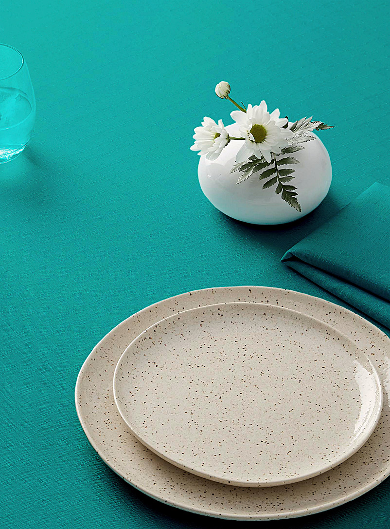 Simons Maison Teal Summery faux-linen tablecloth    All sizes