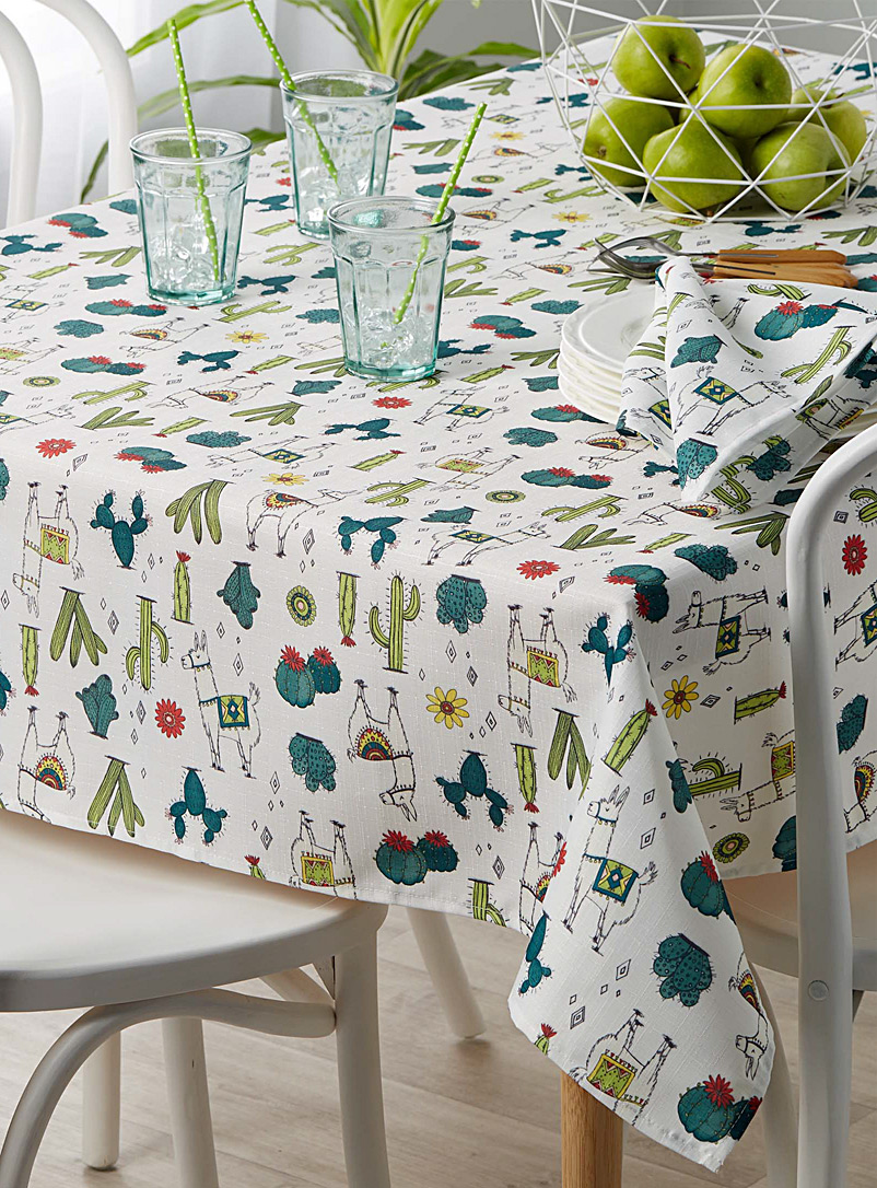 Desert llamas tablecloth - Printed - Assorted