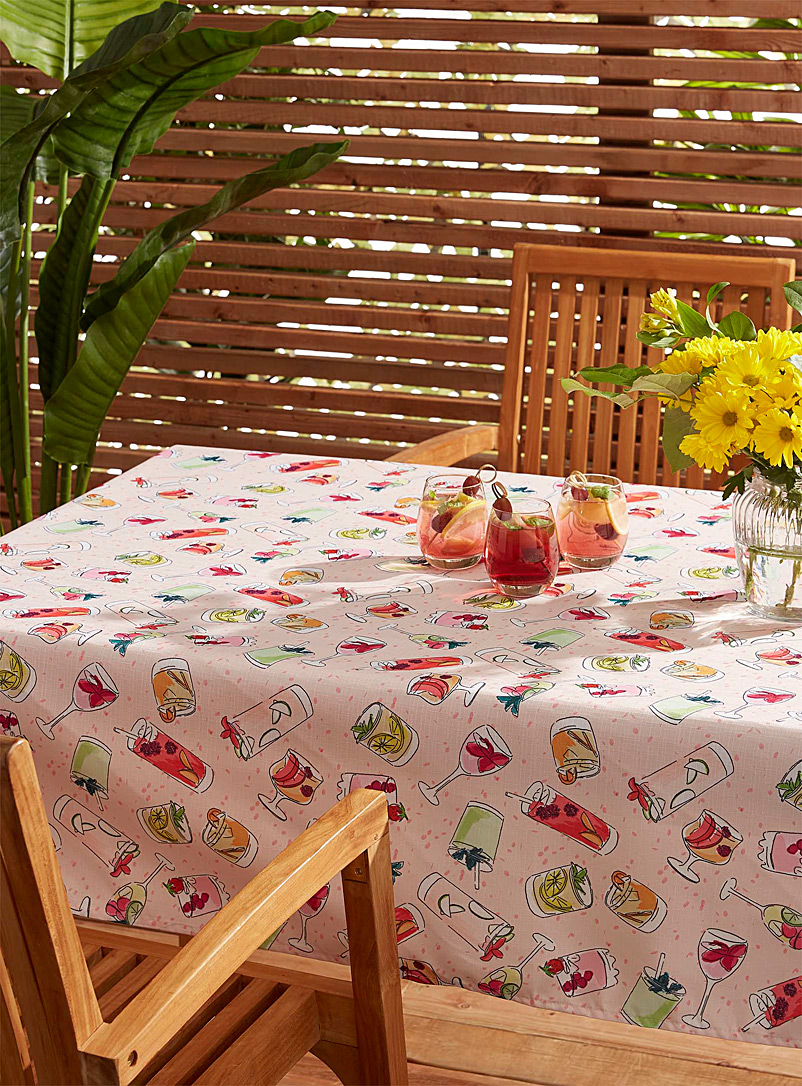 Simons Maison Assorted Summer cocktails tablecloth