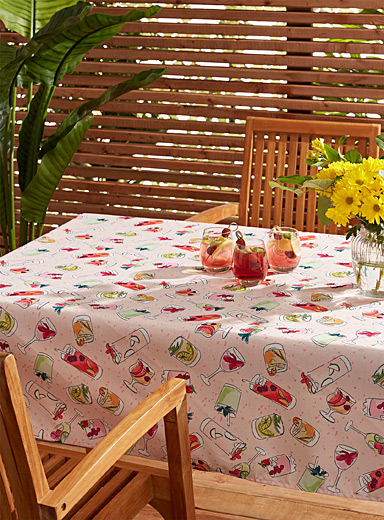 Summer cocktails tablecloth