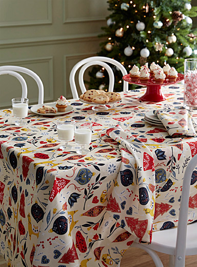 Andean Christmas tablecloth