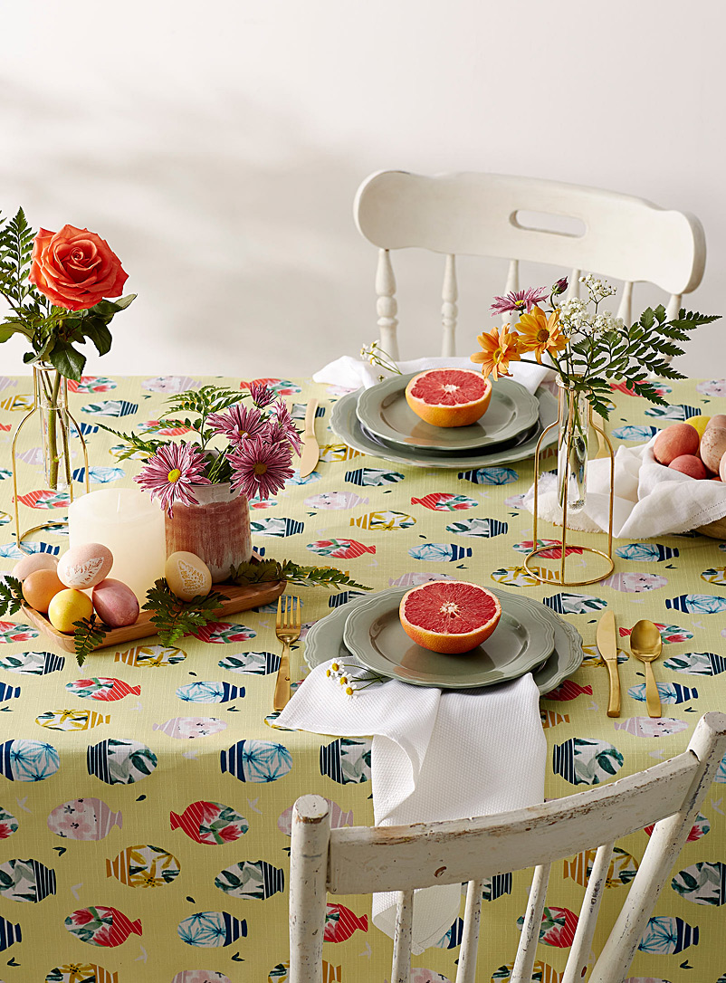 Simons Maison Assorted Easter eggs tablecloth