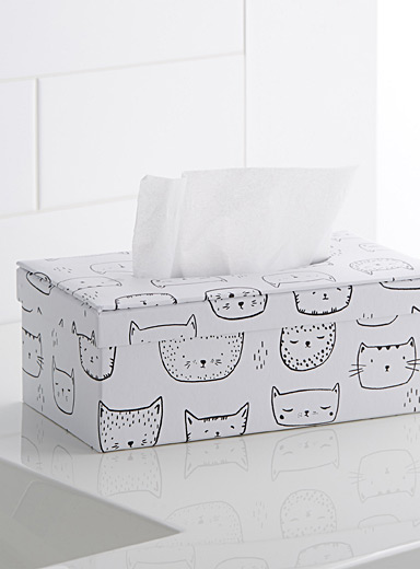 Purring kittens tissue box