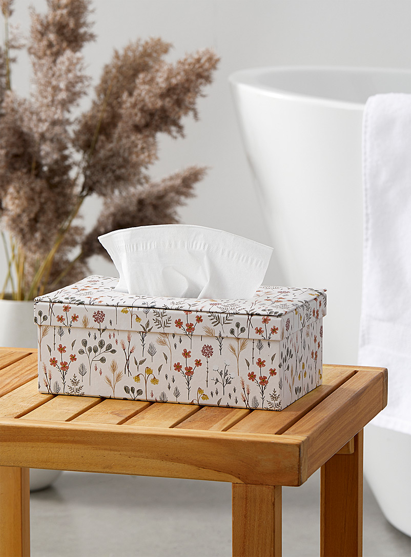 Simons Maison Assorted Drawn flowers tissue box