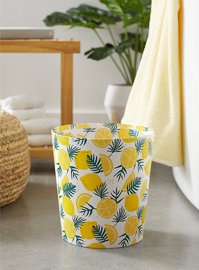 Simons Maison Assorted Lemon tree wastebasket