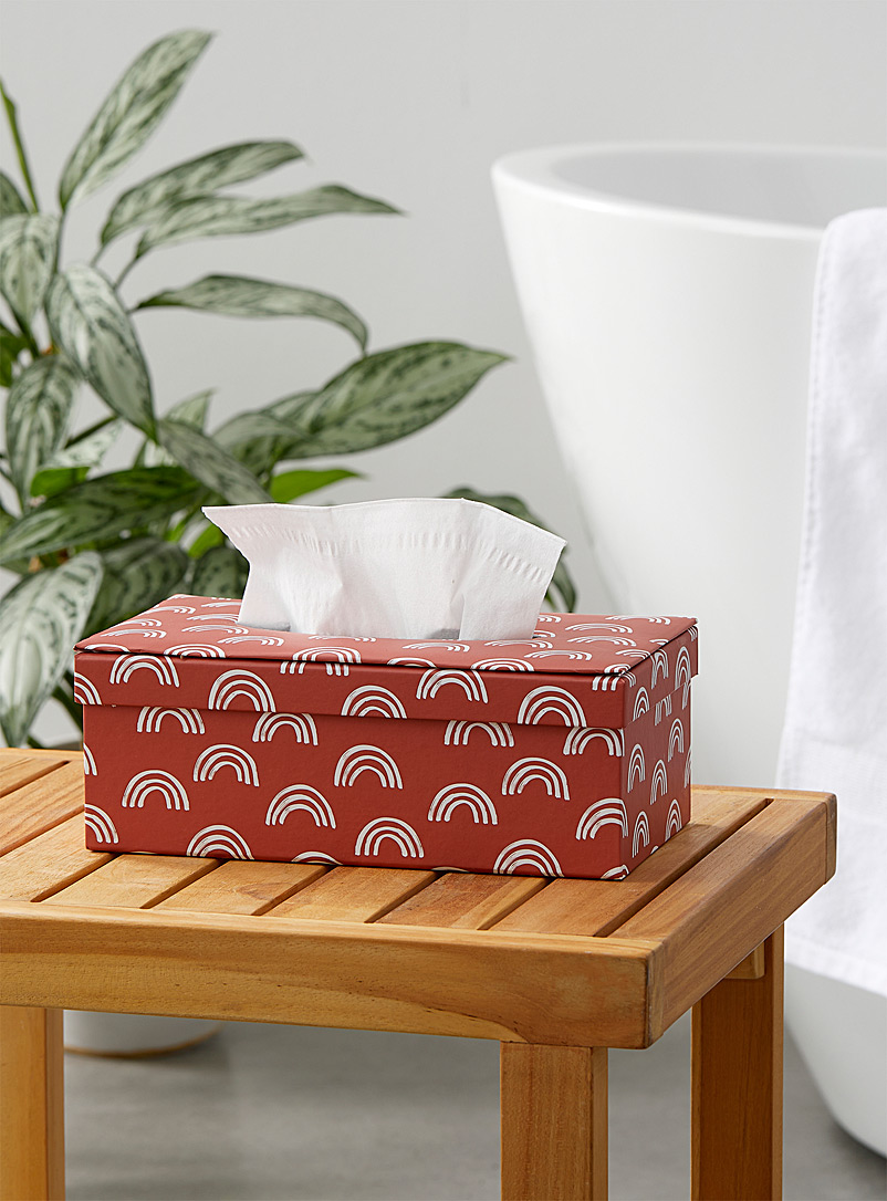 Simons Maison Light Red Rainbow pink tissue box