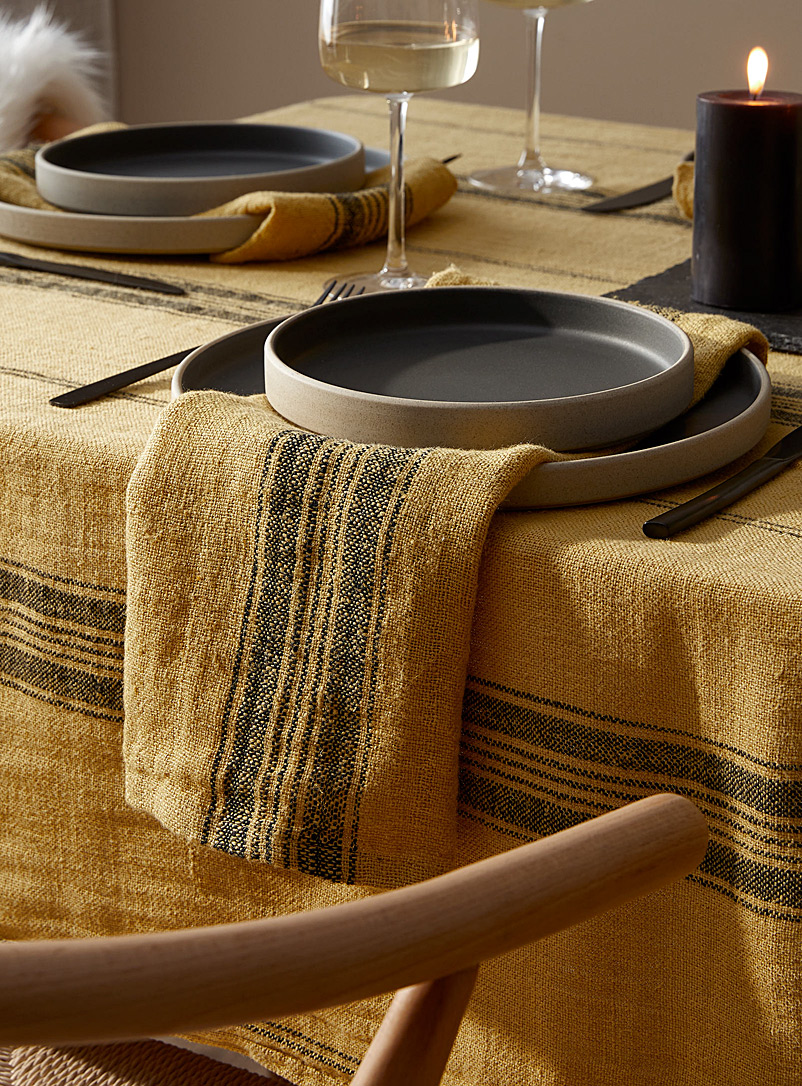 Timeless linen napkin - Fabric - Dark Yellow
