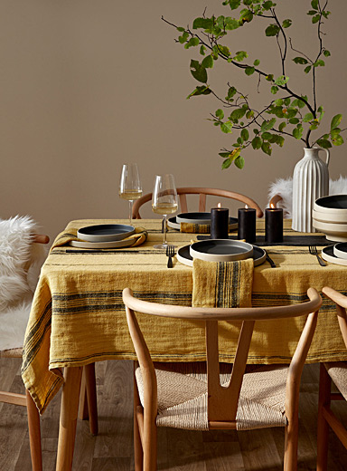 Timeless linen tablecloth