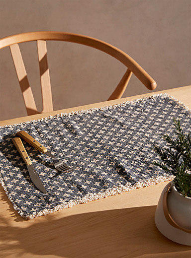 Indigo cross placemat