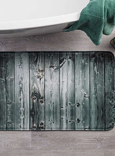 Barn wood bath mat <br>50 x 80 cm