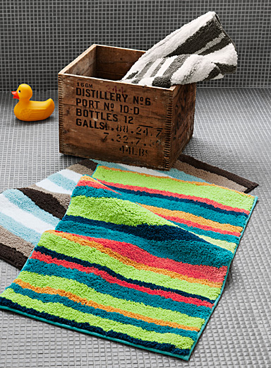 Mishmashed stripe bath mat  50 x 80 cm