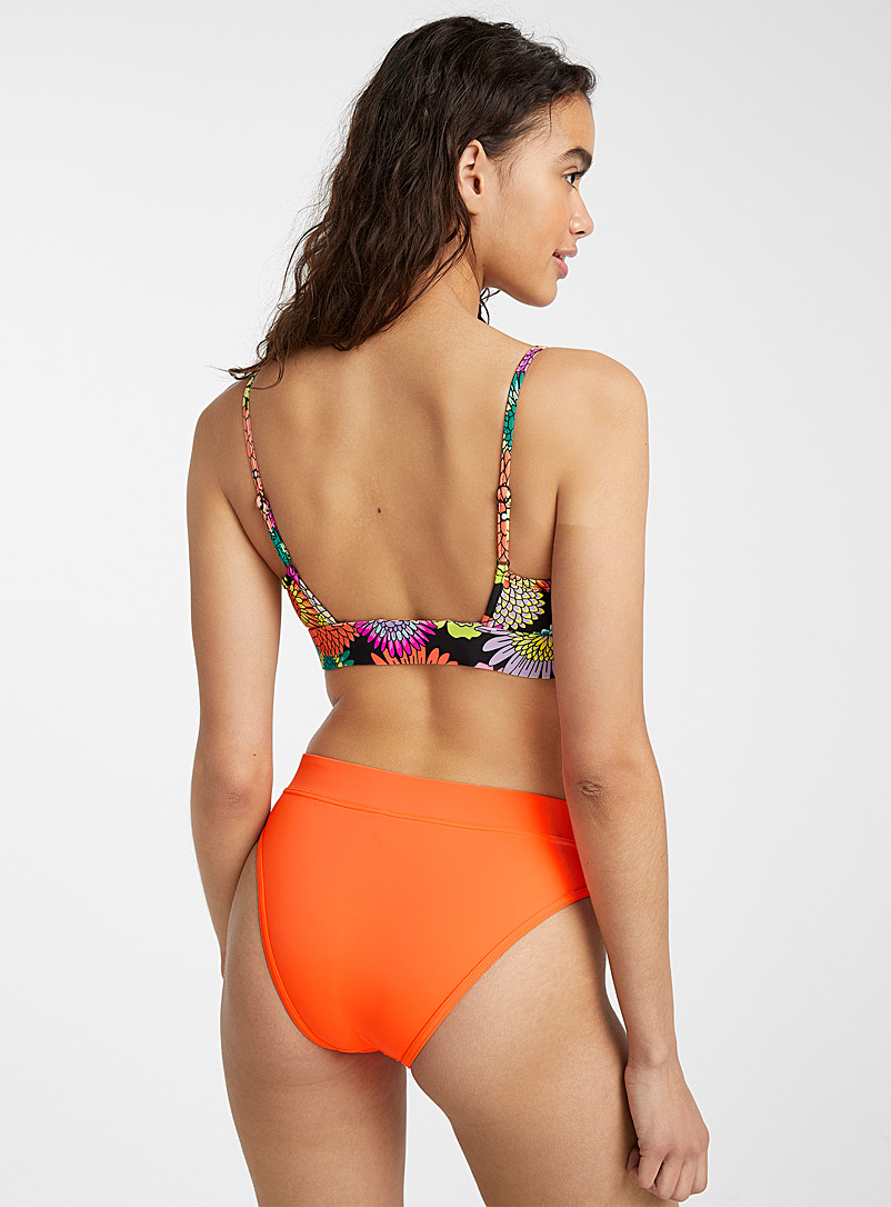 Wide waistband neon bottom - High Waist - Orange