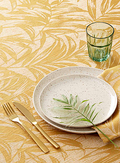 Tropical nature jacquard tablecloth