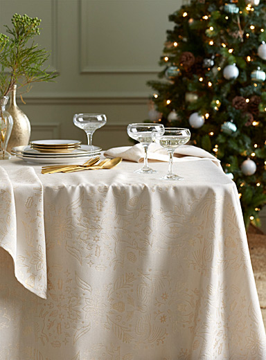 Enchanted forest damask tablecloth