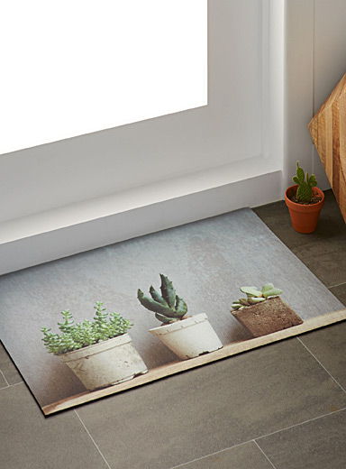 Potted cacti doormat  45 x 70 cm