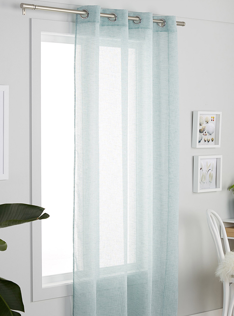 Heather sheer curtain  140 x 220cm - Solid - Teal