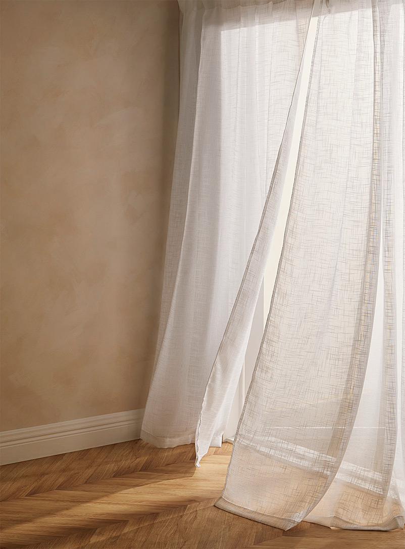 Simons Maison White Faux-linen sheer curtain  3 sizes available
