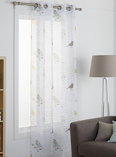 Birds voile curtain  54&quote; x 86&quote;
