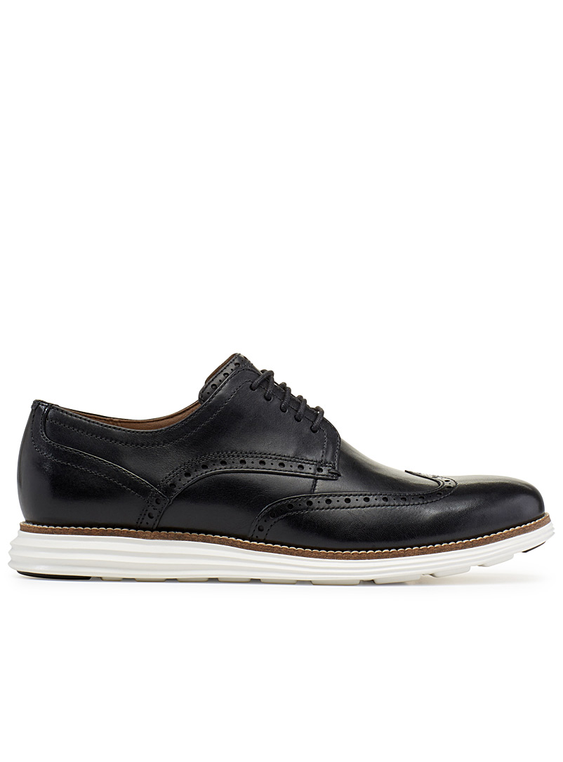 Cole Haan Black OriginalGrand Wingtip shoes for men