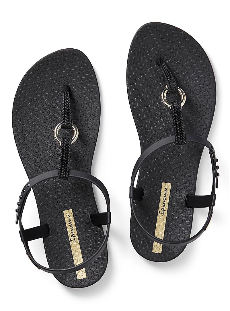 Ipanema Black Link flip-flops for women