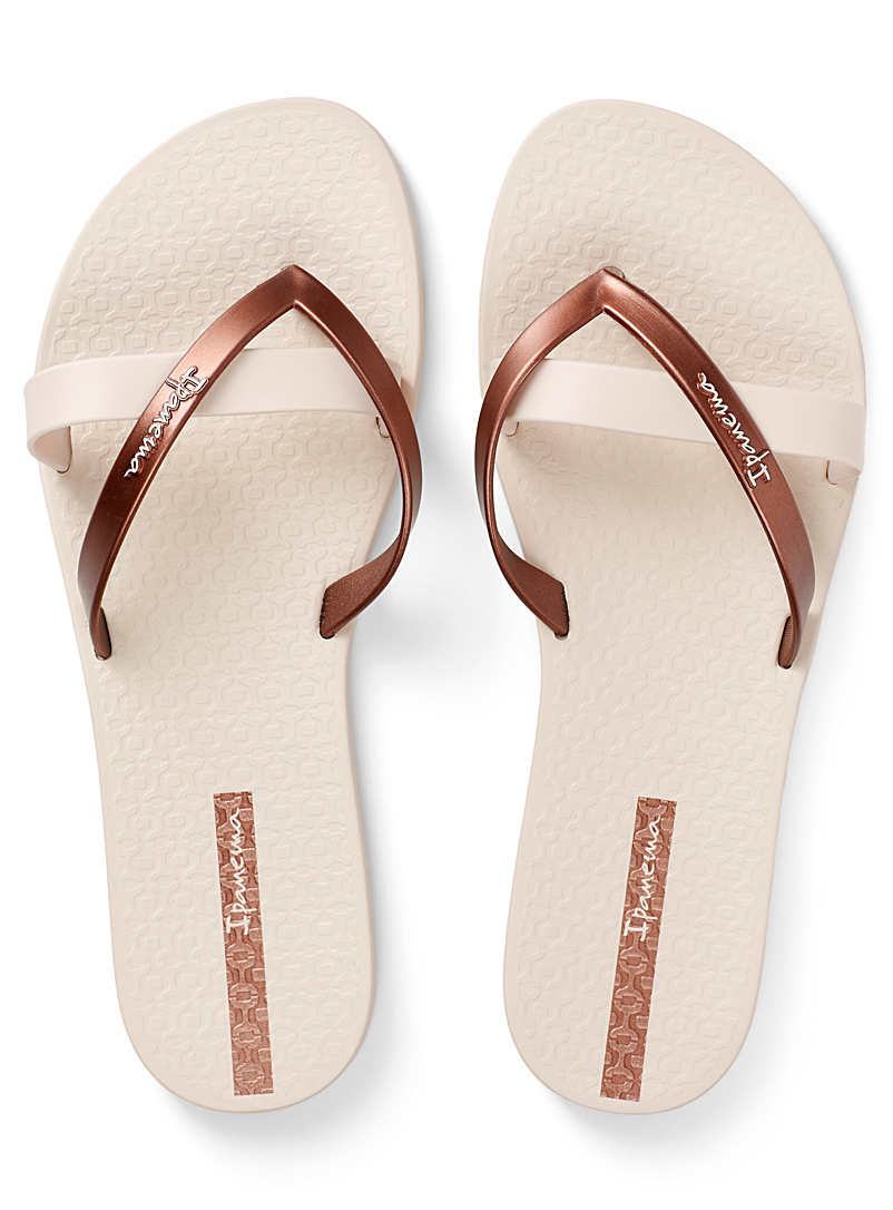 Ipanema Cream Beige Kirei flip-flops for women