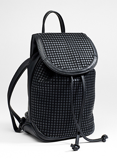 Embossed square backpack