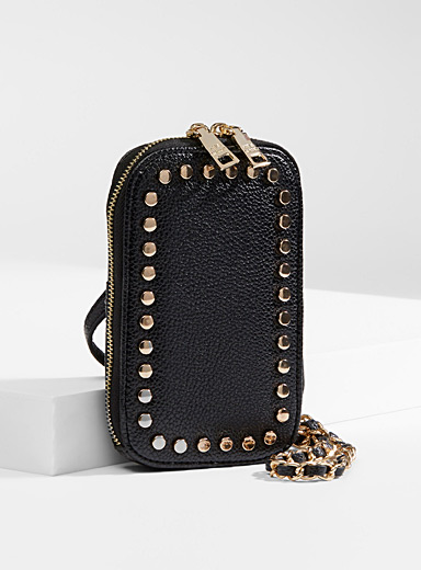 Studded phone clutch