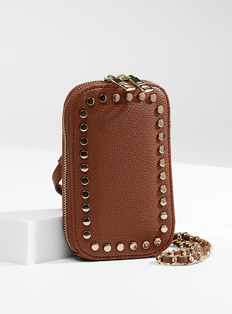 Steve Madden Fawn Colourful studded phone clutch for women