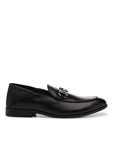 Sauce leather loafers