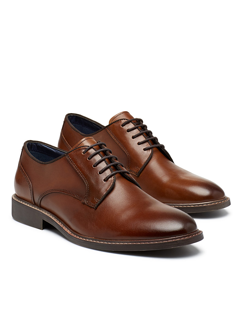 Steve Madden Black Broadmor derby shoes for men