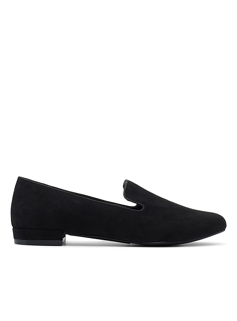 Solidd black loafers - Flats - Black
