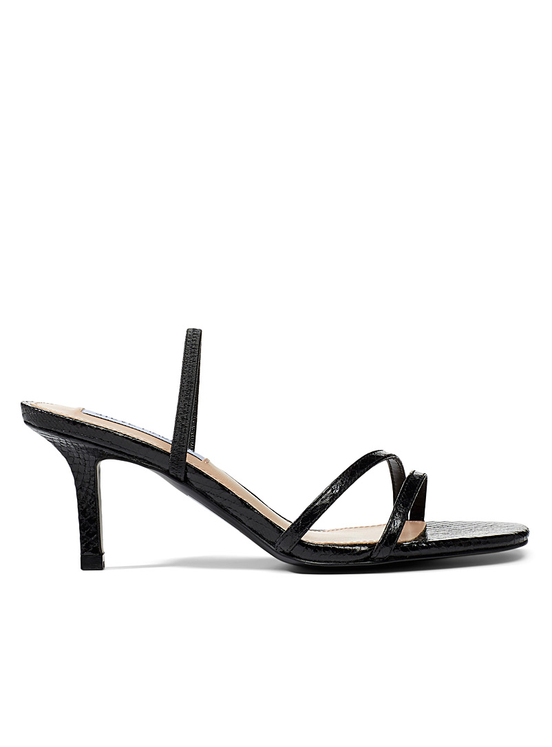 Steve Madden Black Loft heeled sandals for women