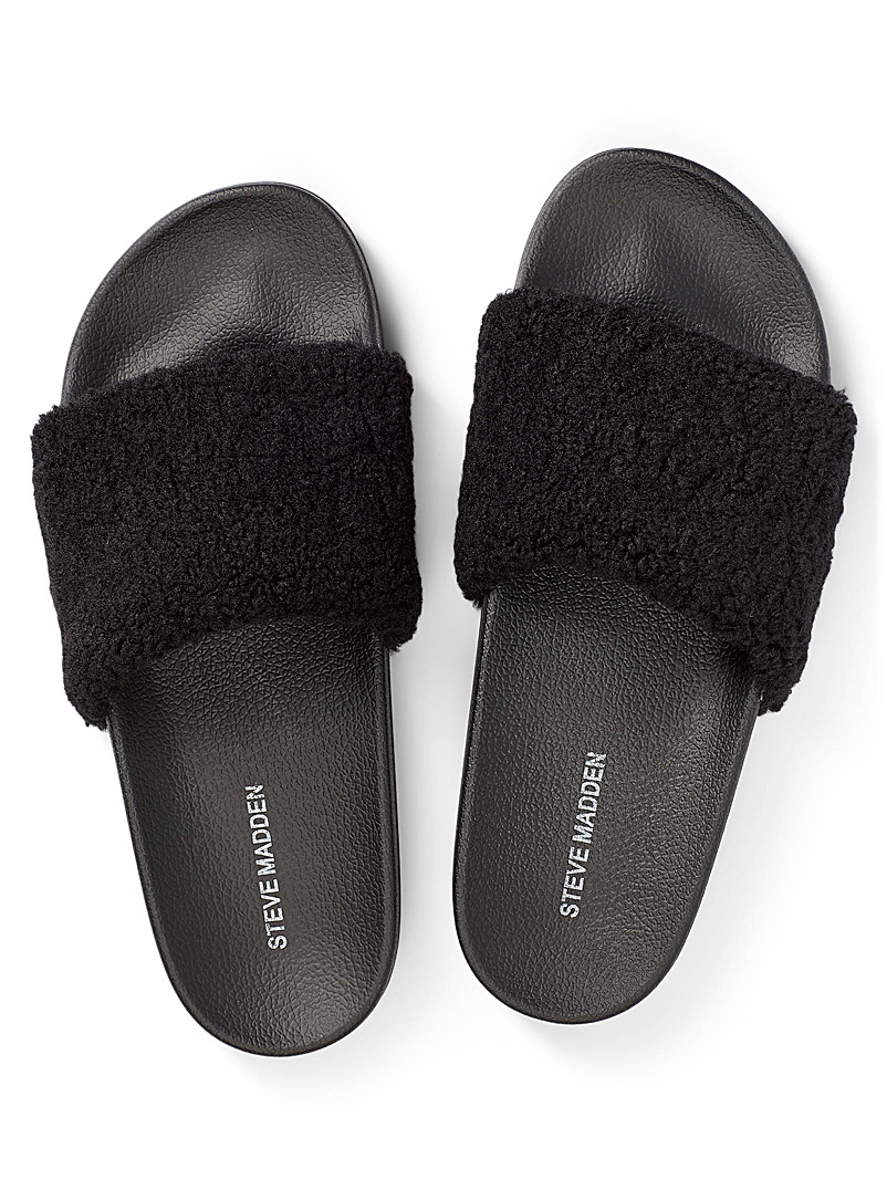 Steve Madden Black Shear slide slippers for women