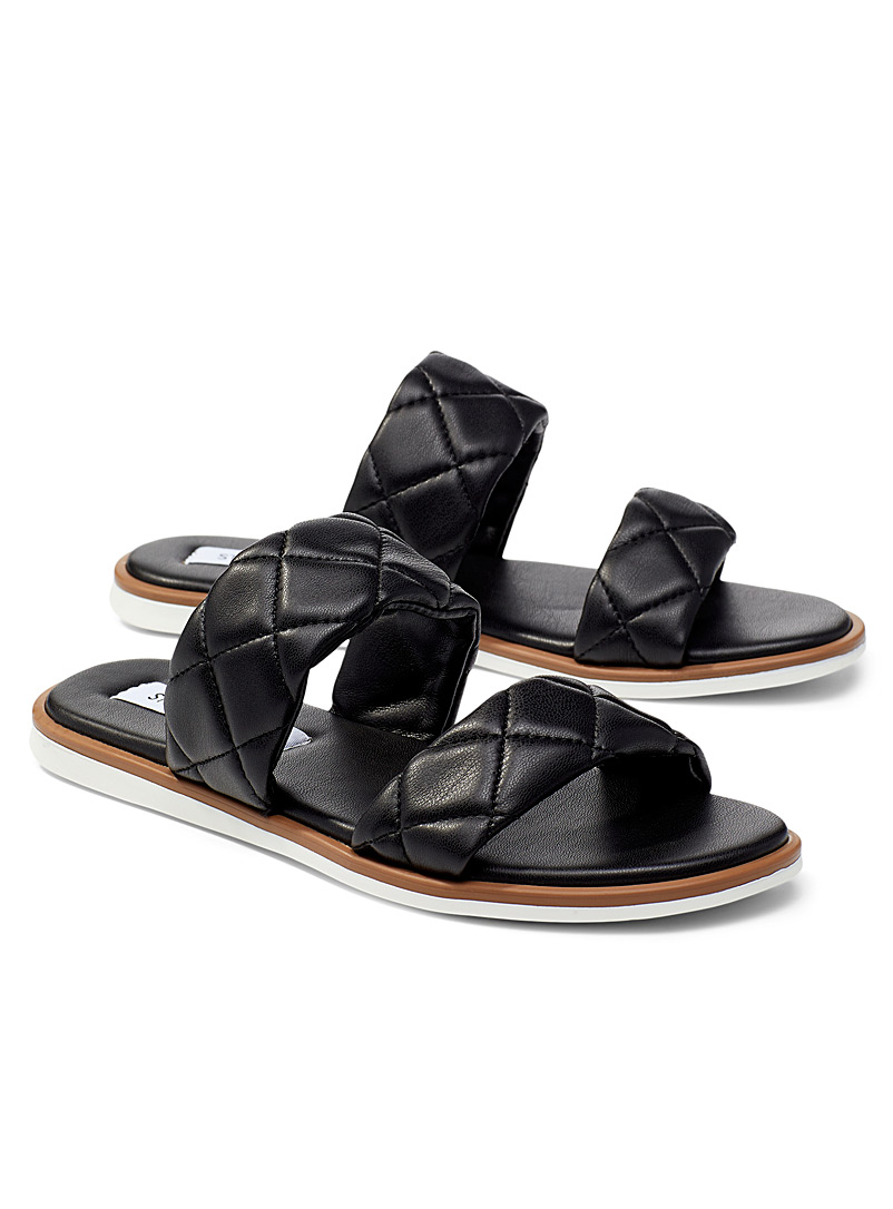 Steve Madden Black Orsa double-strap sandals for women