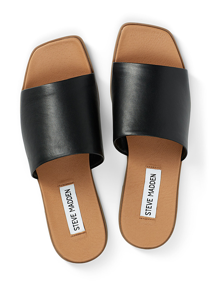 Steve Madden White Karrlaa slides for women
