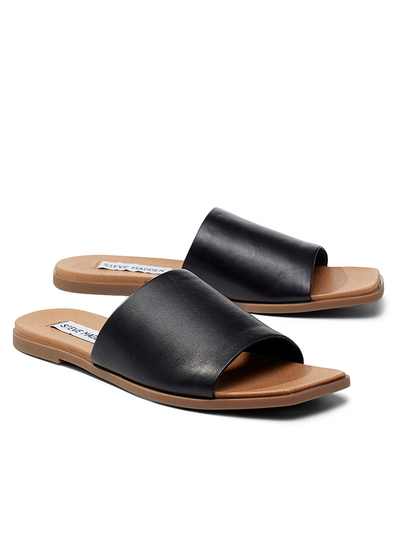 Steve Madden Black Karrmaa slides for women