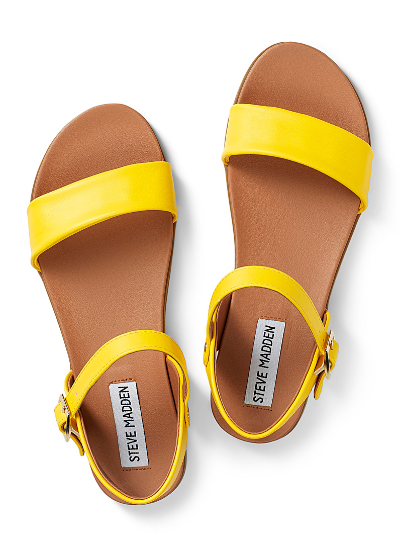 Steve Madden Golden Yellow Daelyn sandals for women