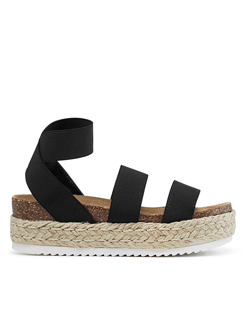Steve Madden Black Kimmie platform sandals for women
