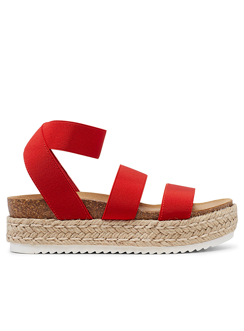 Steve Madden Red Kimmie platform sandals for women