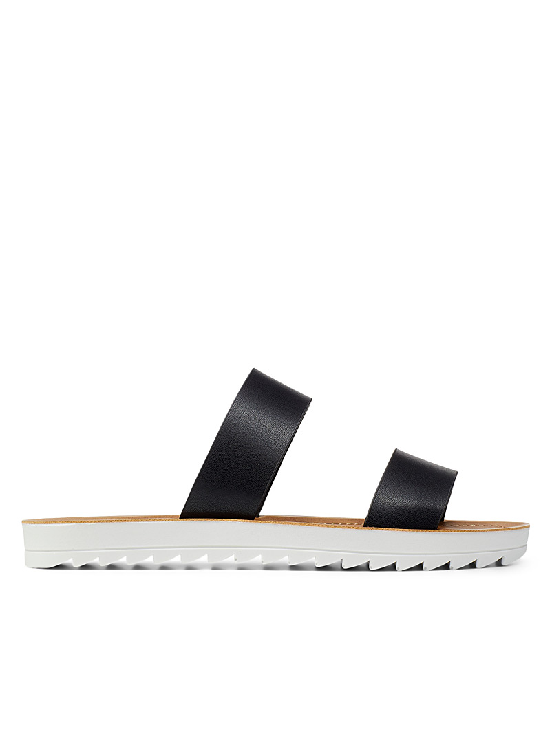 Steve Madden Black Zaggy slides for women