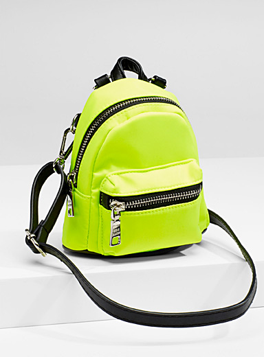 Mini shoulder-strap backpack