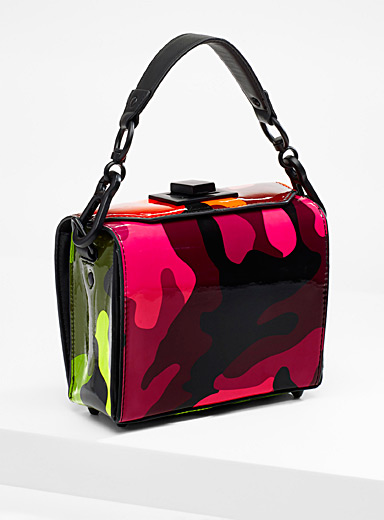 Neon camo shoulder bag