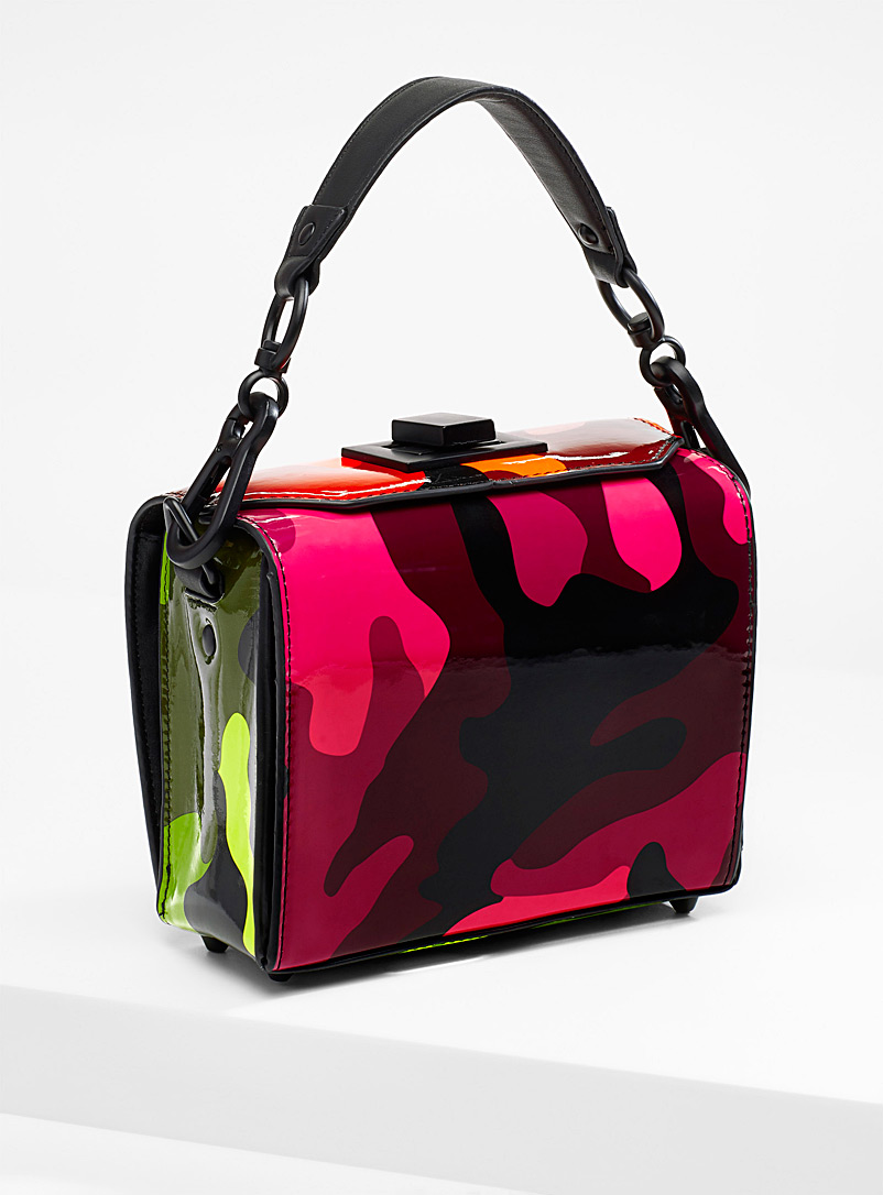 9ebfb2bb719 Neon camo shoulder bag