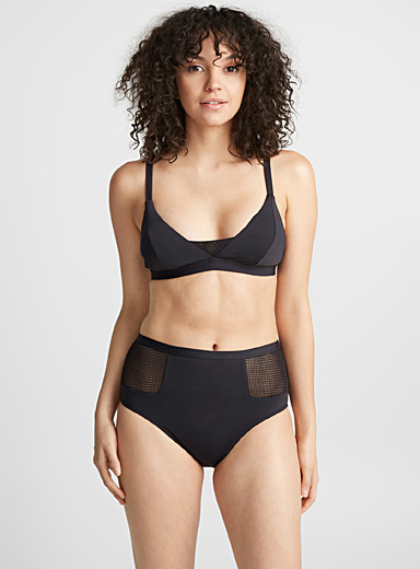 Le haut bralette insertions filet