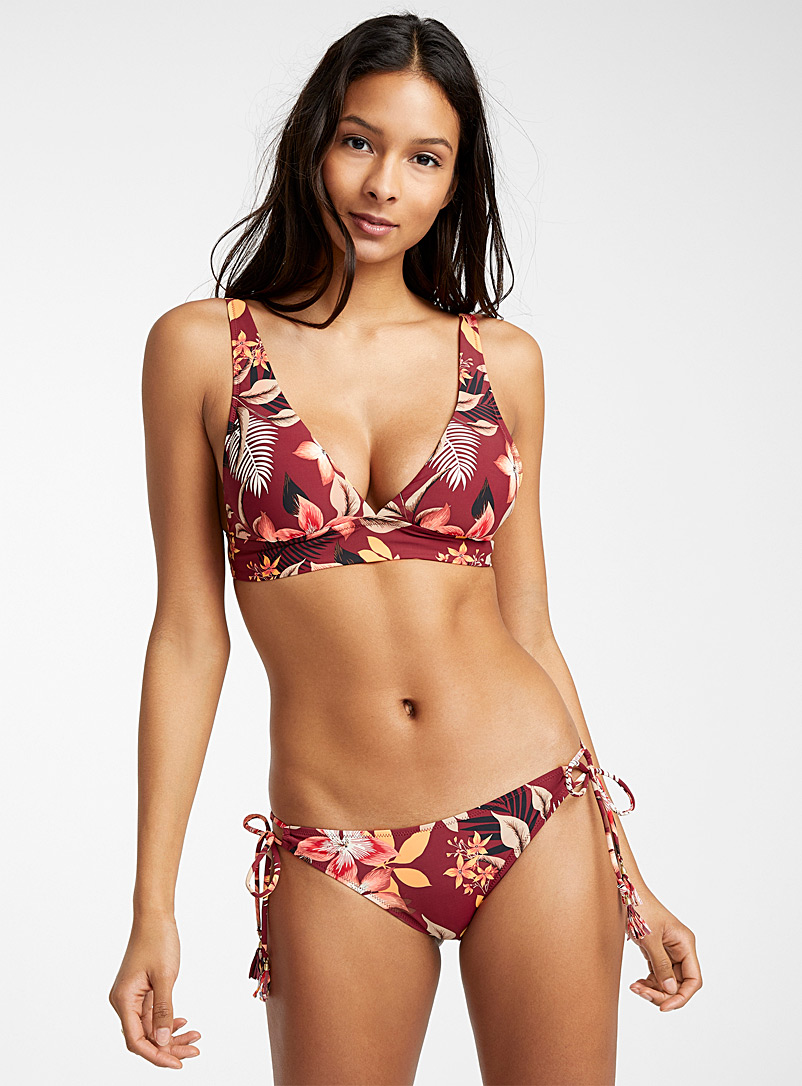 Everyday Sunday Patterned Red Tropical nostalgia bralette for women