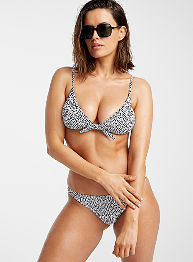 Knotted triangle bralette