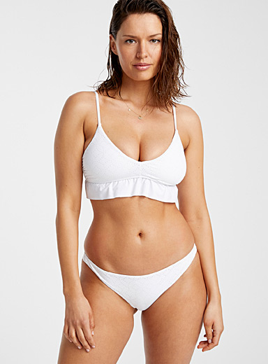 Everyday Sunday: La bralette blanche à volants Blanc pour femme