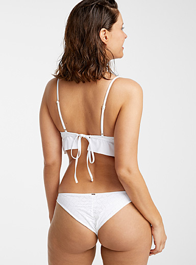 Perforated rosette white cheeky bottom