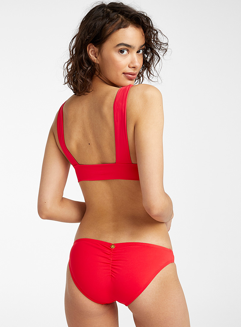 Quintsoul Red Madder red ruched bikini for women