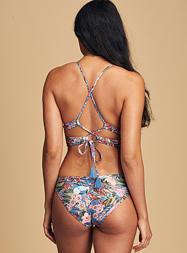 Quintsoul Patterned Blue Lily budding bikini for women